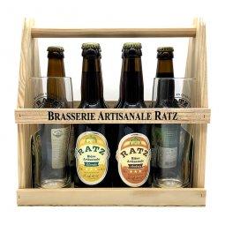 Bière Coffret Ratz Coffret découverte 6 x 33 cl 2 verres et sous bocks