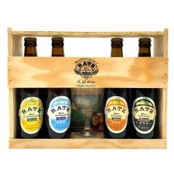 Bière Coffret Ratz Coffret découverte 4 x 33 cl1 verre et sous bocks
