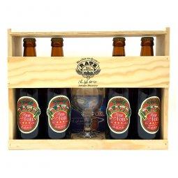Bière Ambrée Noel RatzCoffret 4 x 33 cl1 verre et sous bocks