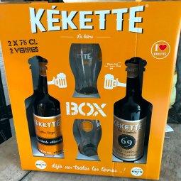 Bière Coffret Kékette 2×75 cl + 2 verres