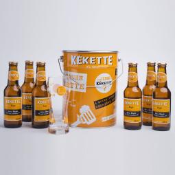 Bière Coffret Kékette Seau 6×25 cl + 1 verre