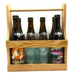 Bière Cimes Coffret découverte 6 x 33 cl 2 verres et sous bocks