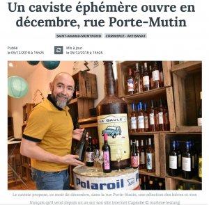Un caviste ouvre en décembre, rue Porte-Mutin à Saint-Amand-Montrond